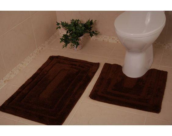 chocolate brown bath mat | Bolero Chocolate Bathroom + Toilet Mat ...