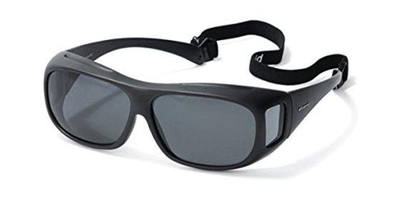 Polaroid Suncovers Fitover Sunglasses 08535 KIH Y2 Black Grey Polarized - Brought to you by Avarsha.com