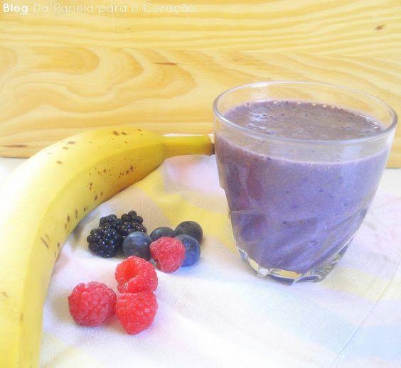 Da Panela para o Coração : Batido de banana e frutos vermelhos