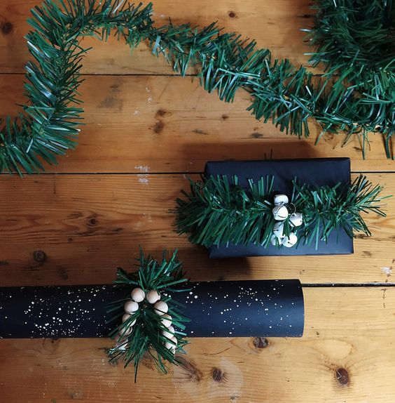 Black Holiday Wrapping