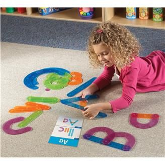 A unique way to learn the alphabet, the Letter Construction Set strengthens letter recognition and handwriting skills, too.