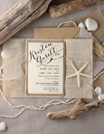 Ideas de invitaciones/ boda en la playa 12