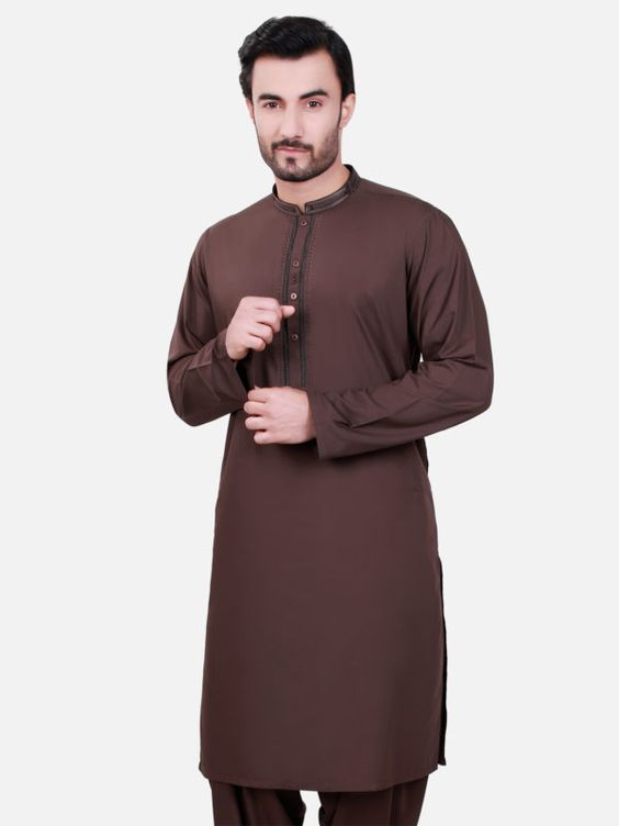 Brown kurta design for men by edenrobe