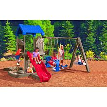 Plastic Swing Sets Little Tikes And Playgrounds On Pinterest