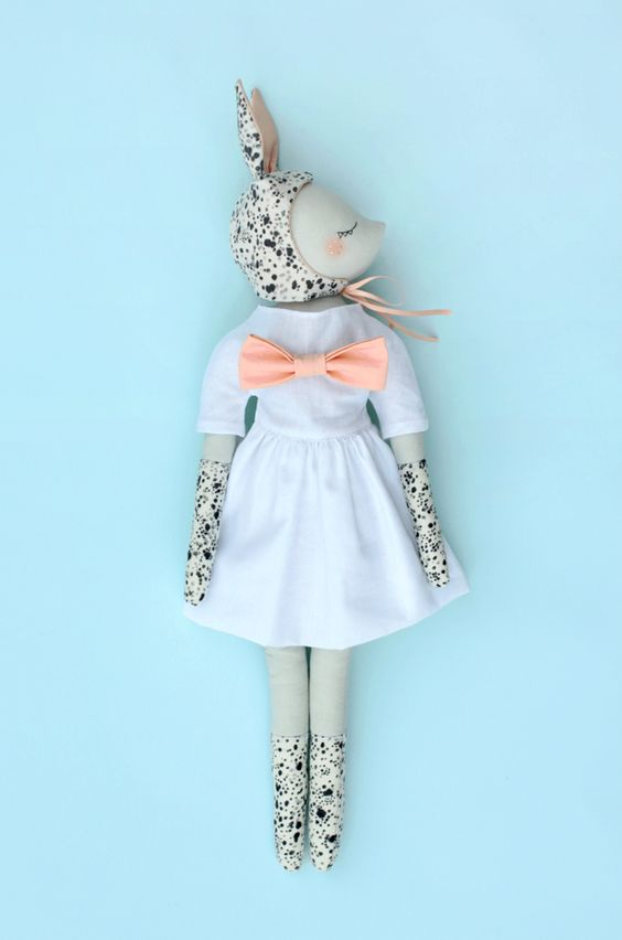 Spotted bunny doll by maiwenn philouze