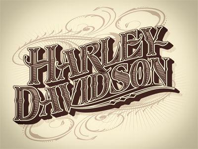 Harley Davidson lettering