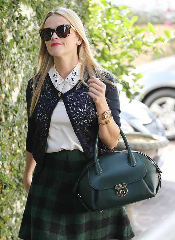 The 12 Best Celebrity Bag Moments of 2015- Reese Witherspoon Salvatore Ferragamo Fiamma Bag: