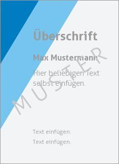 Muster Zertifikat, Diplom, Urkunde Rahmen, Streifen Diagonale Streifen, Blau