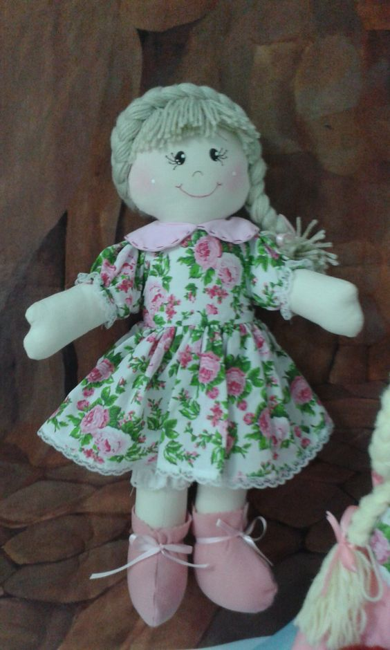 Boneca de Pano Julia 46  cm