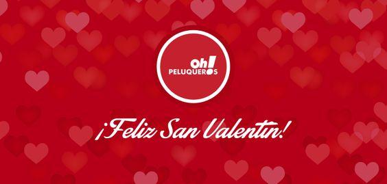 ¡Todo el equipo de Oh! Peluqueros os desea un feliz día de San Valentín!