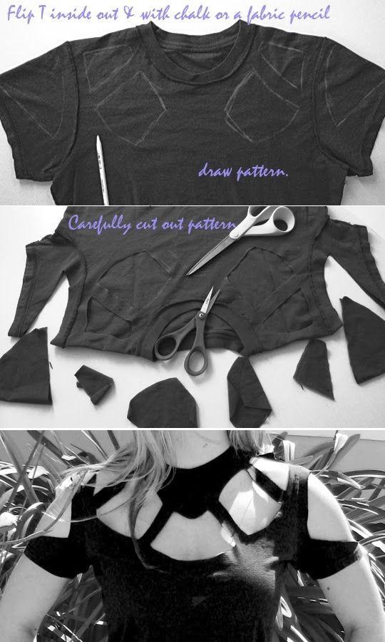 Artesanato Decor e Culinária: Customize a velha camiseta