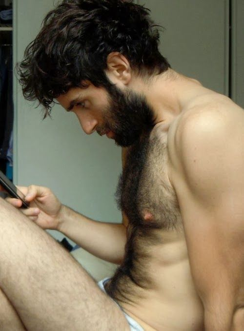 <3 Beard and chest hair. That's a playground.