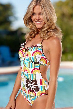 Hapari Girl Ruffle One Piece Swimsuit :}