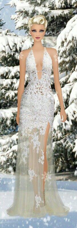 Covet Fashion Game. Look: Snow Bride: