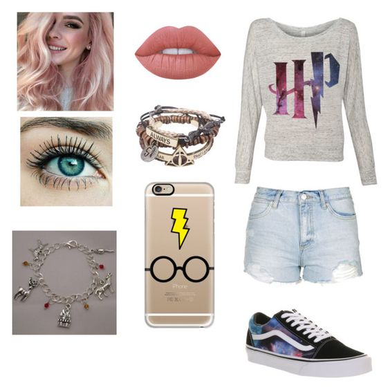 """""""HP 4ever 😍"""" by dreamingirl7 ❤ liked on Polyvore featuring Topshop, Vans, Casetify and Lime Crime"""