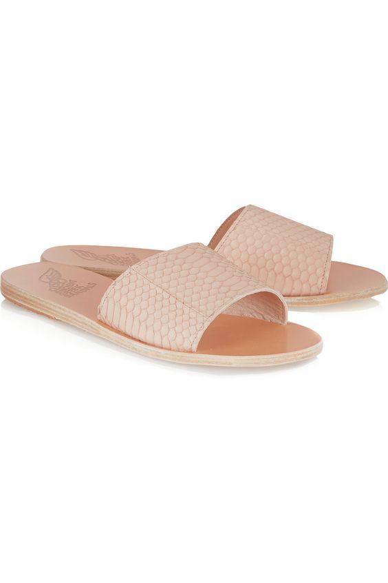 Ancient Greek Sandals|Taygette snake slides|NET-A-PORTER.COM