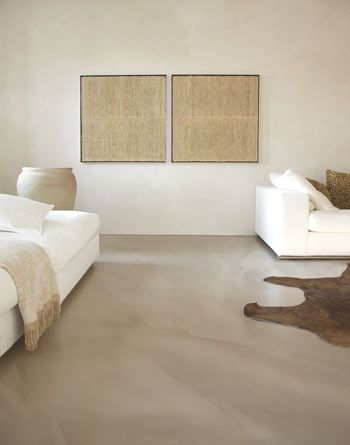 I love the warm softness of the concrete floors and the muted walls.