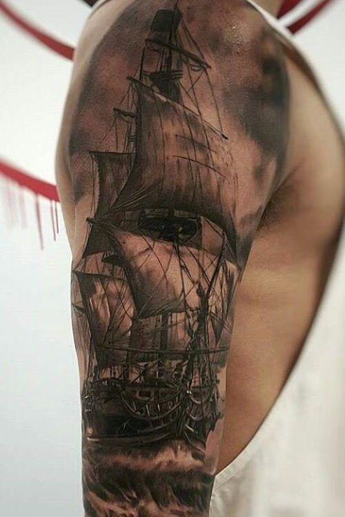 10 Tatuajes de barcos en el brazo