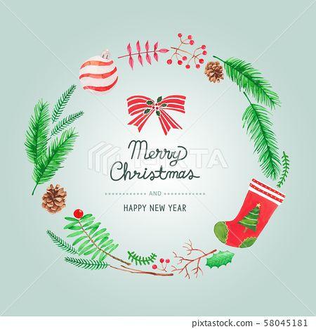 크리스마스 성탄절 수채화 포스터 카드 나뭇가지 배경 백그라운드 겨울 시즌 팝업 배너 새해 신년 이벤트 행사 수작업 식물 장식 인테리어 리스 크리스마스장식 엽서 크리스마스카드 크리스마스리스 소나무 크리스마스 카드 크리스마스 크리스마스