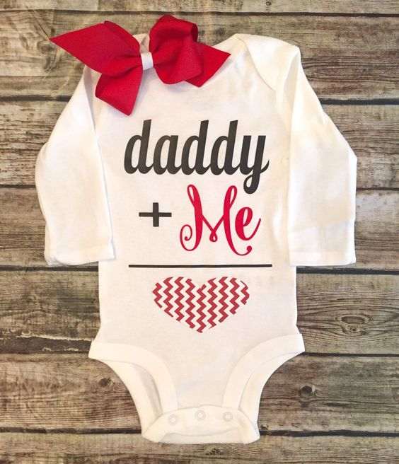 A personal favorite from my Etsy shop https://www.etsy.com/listing/259793549/valentines-day-bodysuit-valentines-daddy: