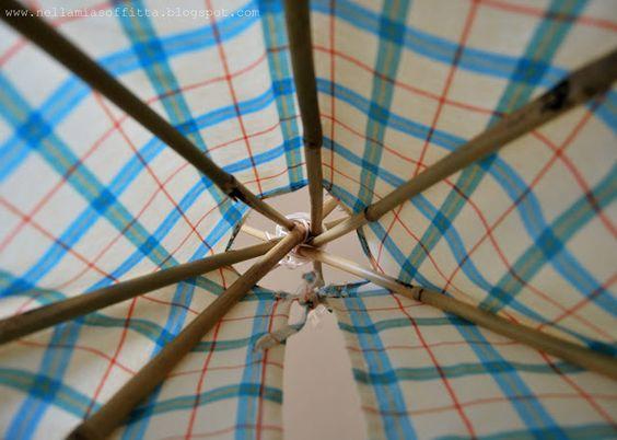 Nella mia soffitta...: Tutorial: come realizzare una tenda degli indiani per bambini - Baby tent