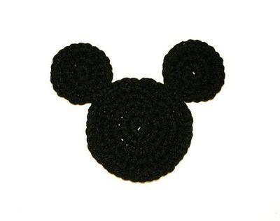 Crochet Mickey Mouse Ears Coaster - Tutorial: