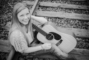 a girl and her guitar  nicole briann photography