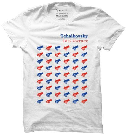 Camiseta Tchaikovsky 1812 Overture #música #ópera #tshirts #camisetas operaclub.com.br