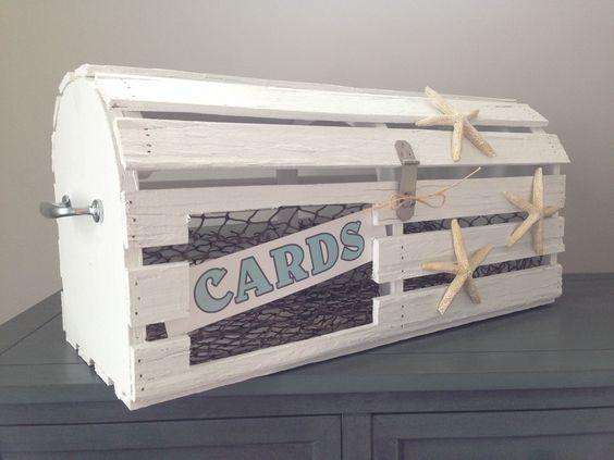 Handmade Reclaimed Wood Maine Lobster Trap - Perfect card box for  nautical/beachy weddings! - Handmade Reclaimed Wood Maine Lobster Trap - Perfect Card Box For