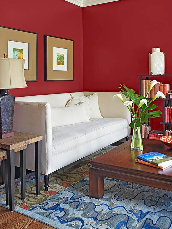 What colors go with red cold weather paint colors and Classic red paint color