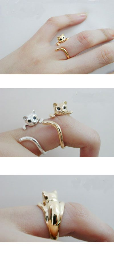so cute cat ring ,,only $2.99 at www.costwe.com: