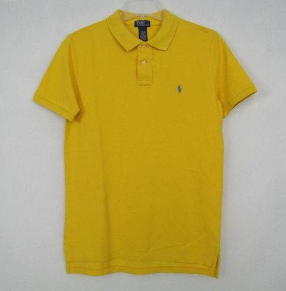 Ralph Lauren Men Mesh Polo Shirts Light yellow