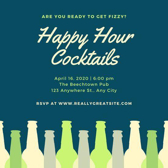 Holiday Happy Hour Invitation New Happy Hour Invitation Templates Canva Happy Hour Invitation Invitation Template Happy Hour