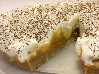 Banoffee ou tarte de banana e caramelo