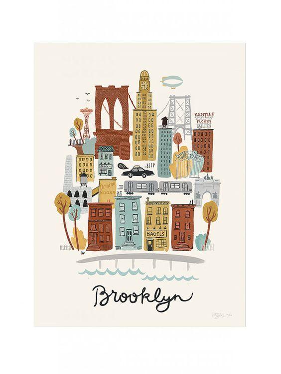 Brooklyn Neighborhood Poster Print
