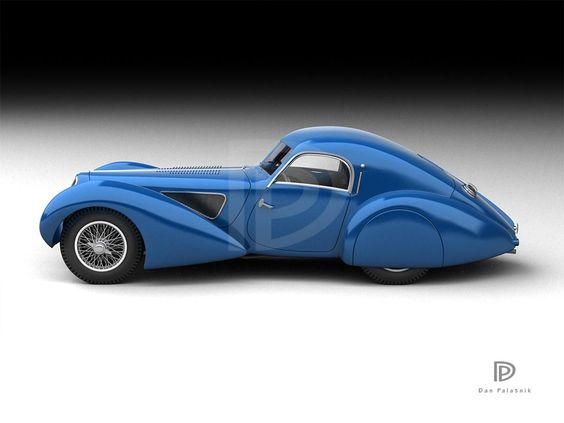 A Garagem Digital de Dan Palatnik | The Digital Garage Project: 1938 Talbot Lago T-150 SS Pourtout