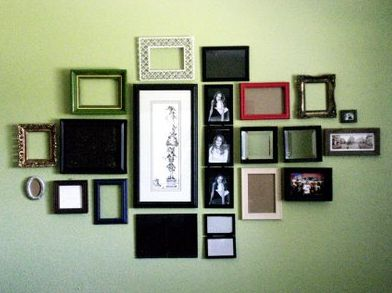Frame Collage! i wonder if my husband will let me do this.