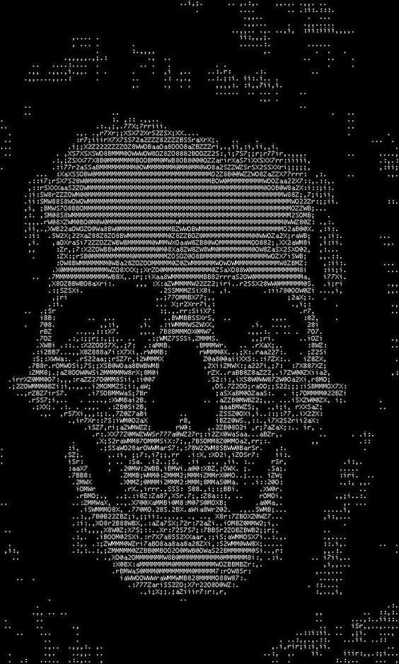 One Line Ascii Art Eyes : Ascii art skulls and needlepoint on pinterest