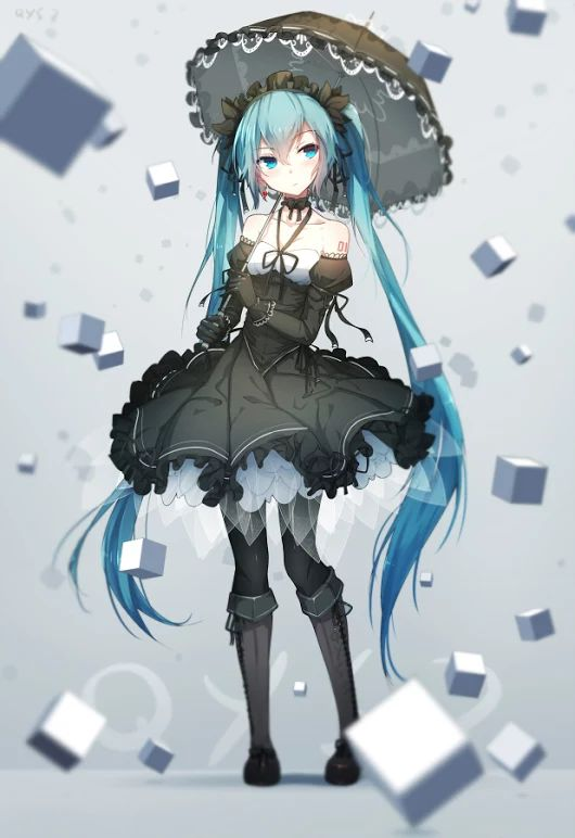 Hatsune Miku, awesome dress, I love it  ❤.❤