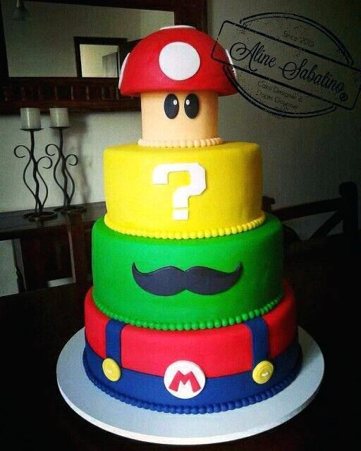 Super Mario Cake Ideas S Easy With Images Super Mario Birthday