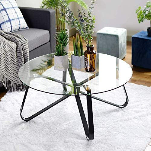 New Warmcentre Round Coffee Table 32 Modern Glass Coffee Table