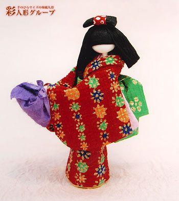 おつかい 彩人形-手のひらサイズの和紙人形-