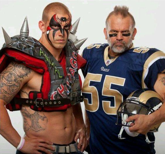 Road Warrior Animal (Joe Laurinaitis) & his son James Laurinaitis ...