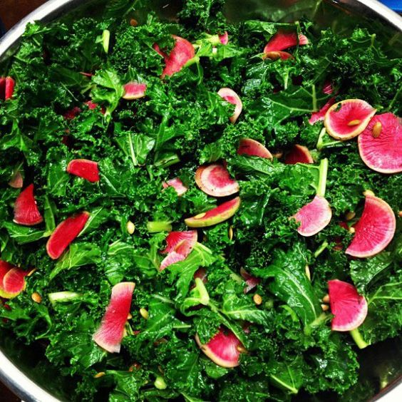 Kale Salad With Quick-Pickled Watermelon Radish Recipe ...
