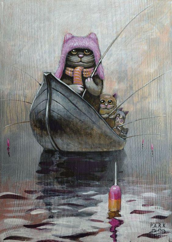 Просмотреть иллюстрацию Утренний туман из сообщества русскоязычных художников автора Павел Кульша в стилях: Детский, нарисованная техниками: Акрил.