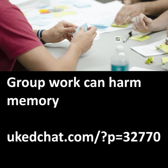 It's probably one of the most commonly used strategies evident in classrooms around the world, but researchers from the University of Liverpool have concluded that group work can actually harm memory. In a joint study, psychologists from the University of Liverpool and the University of Ontario Institute of Technology (UOIT) have revealed that collaborating in a group to remember information is harmful...