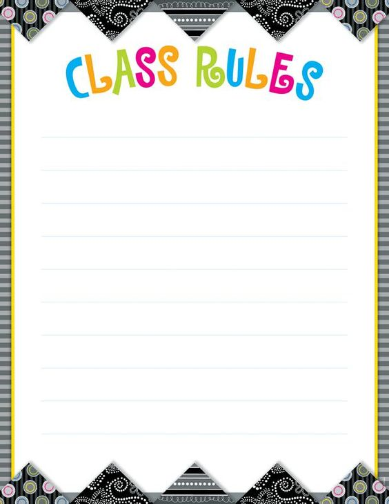class rules poster template google search lesson activities pinterest class rules. Black Bedroom Furniture Sets. Home Design Ideas