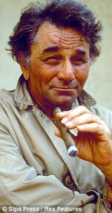 Peter Falk, as Lieutenant Columbo ~ Peter Falk starred as Columbo from 1968 up until 2003 - with the show heralded as one of the greatest detective dramas of all time.