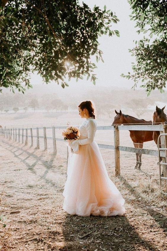 Ombre peach wedding
