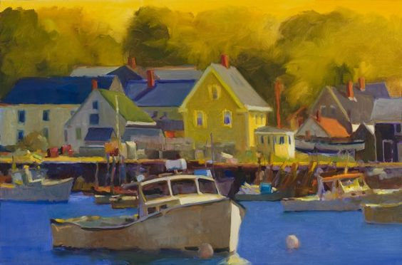 Connie Hayes, Maine Artist Yellow, Oil on canvas, 24 x 36